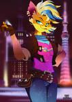 Tawna Bandicoot Punk by EdoNovaIllustrator