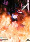 Flamedramon by EdoNovaIllustrator