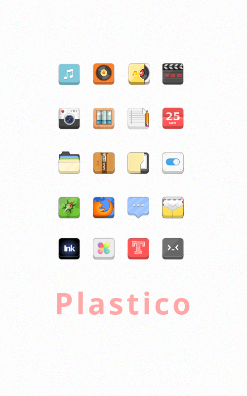 Plastico icons