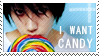 Stamp: L wants candy. by BenHabby