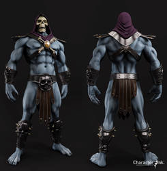 Skeletor Front and back view. by tomisaksen
