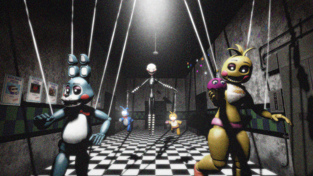 Fnaf puppeteer and puppets by ionyen on deviantart