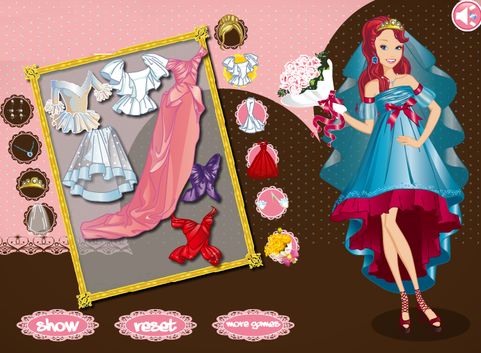 Design Dress Up Games Barbie Bride Dress up Game by