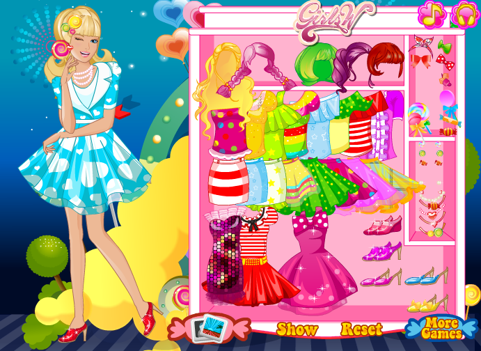 Candy girl dress up game by willbeyou on deviantart Barbie fashion style dress up games