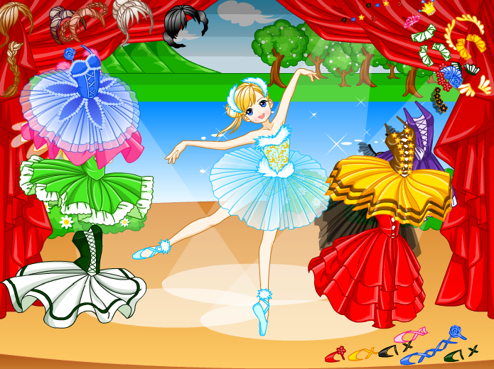 Design Dress Up Game Girl Ballet Girl Dress up Game by