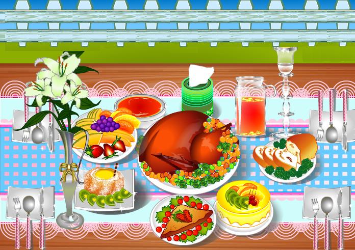 Thanksgiving dinner decoration by willbeyou on deviantart