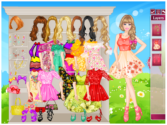 Barbie Games Dress Up Games Fashion Barbie Summer Dresses Dress up