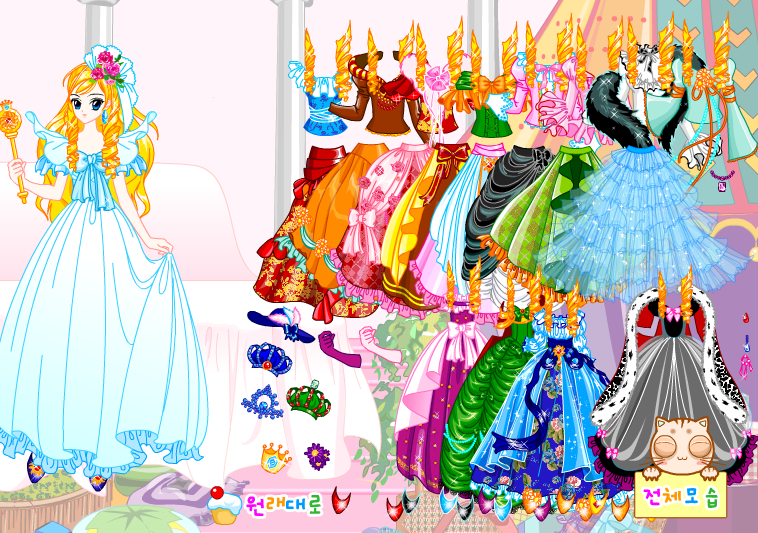 Barbie Princess Gown Dressup Game by willbeyou