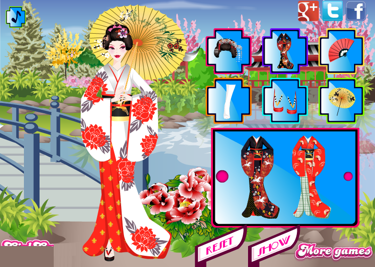 Japan style dress up games
