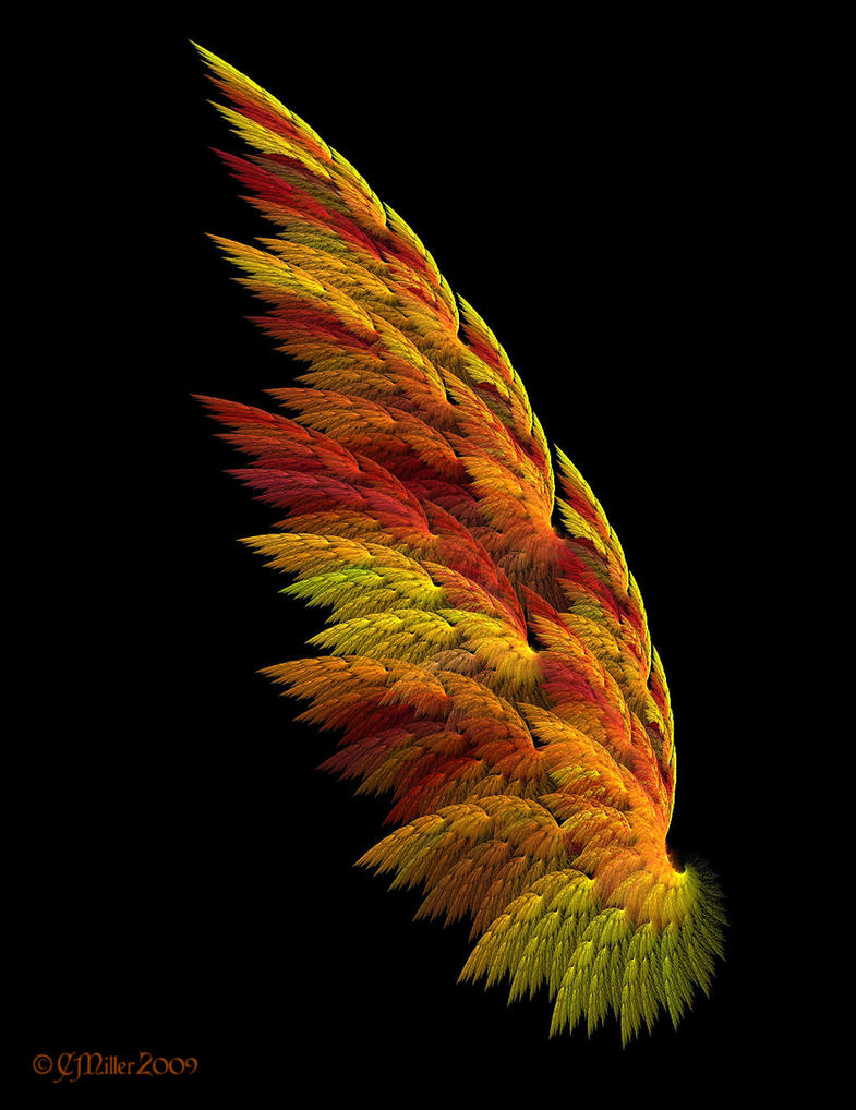 Flame wing tattoos