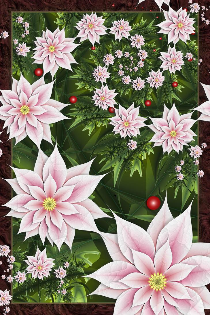 Christmas Poinsettias   2010 by Shadoweddancer