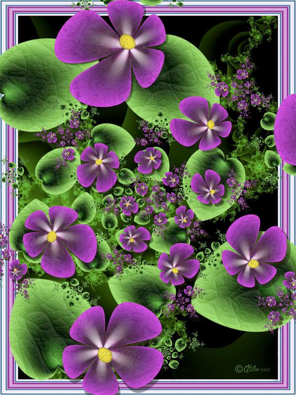 Violets by Shadoweddancer