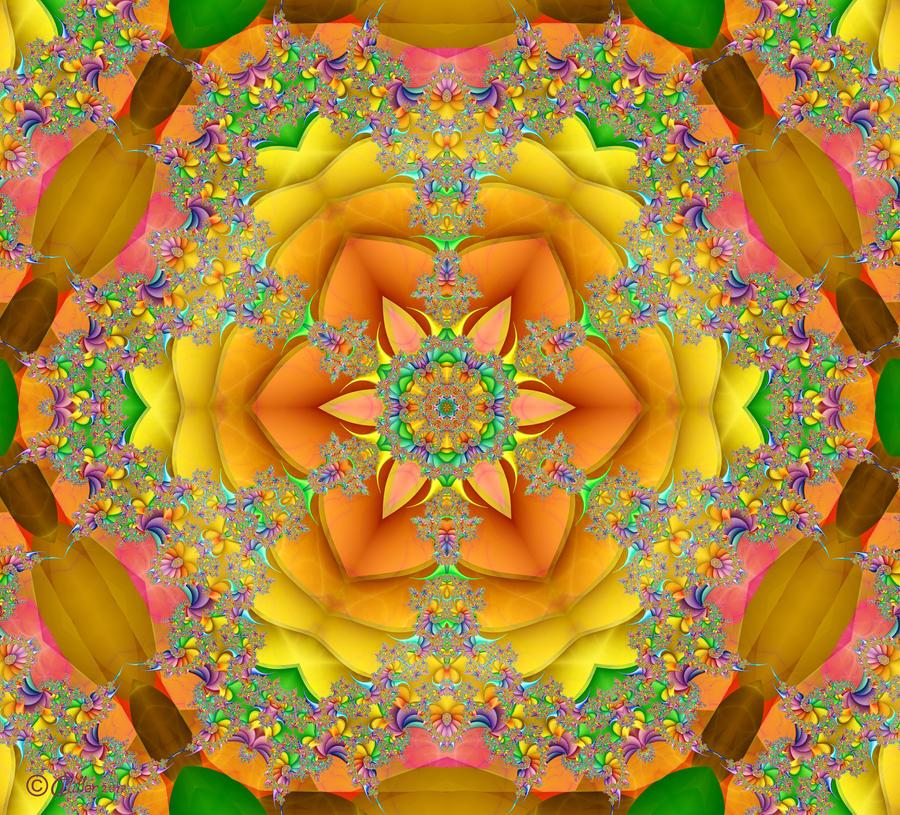 Psychedelic Snowflake by Shadoweddancer