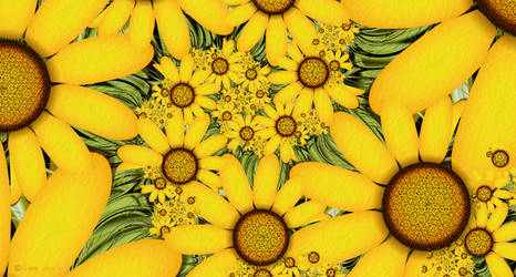 Summer Sunflowers by Shadoweddancer