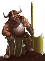 dwarf with golden axe