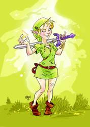 What if Zelda was a girl? by KROKDK