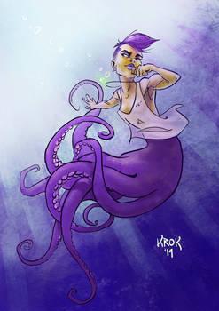 Octopus mermaid commision