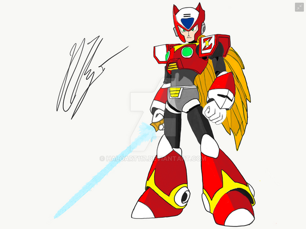 Megaman X - Hunter Zero by HaloArt117