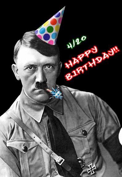 Hitler Cake Funny Happy Birthday