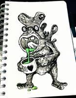INKTOBER'18 - #6 - Drooling by hubertspala