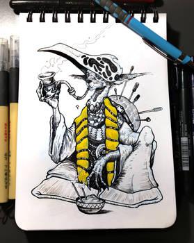 INKTOBER'19 |#10 - Pattern | Enigmatic Scarfmaker
