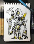 INKTOBER'19 | #18 - Misfit | Scrapper Bot