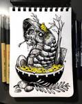 INKTOBER'19 | #25 - Tasty | Yumwurm