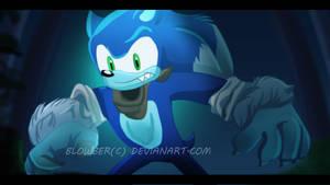 Sonic werehog by blowber