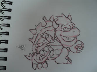 Pixelated Bowser by ArtOfTypH