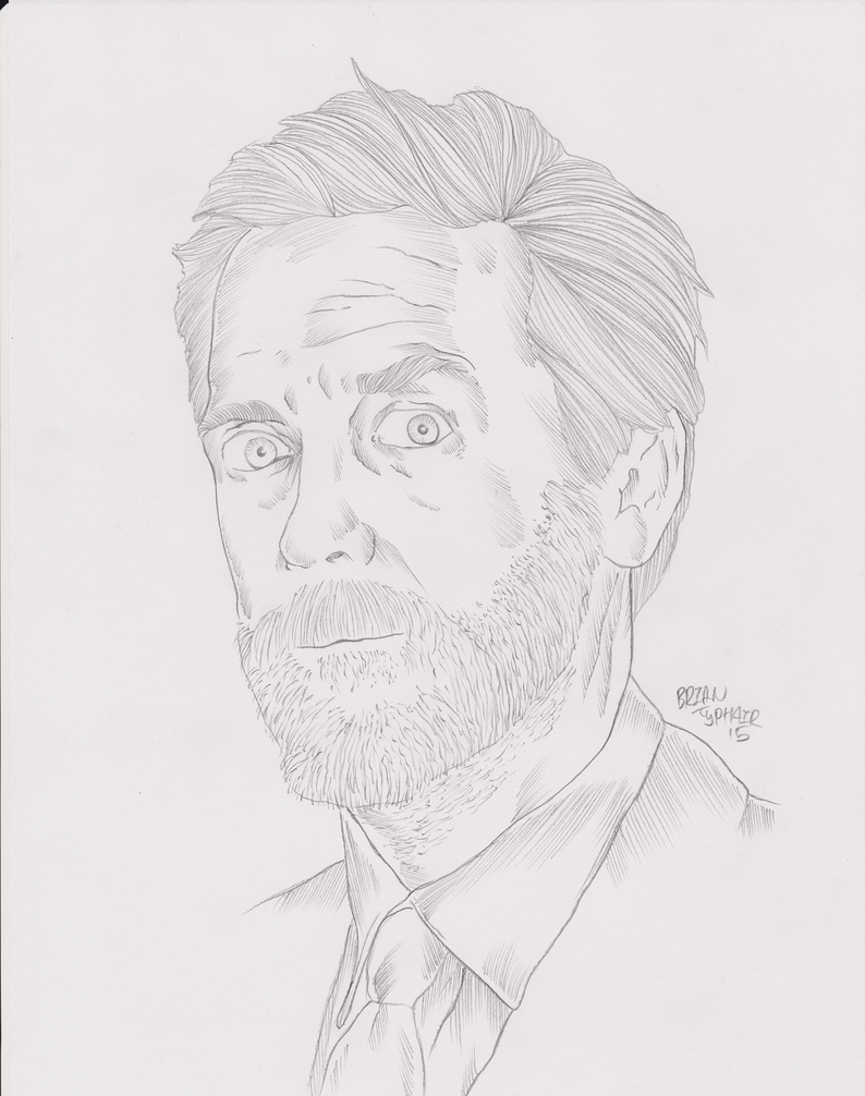 Hugh Laurie: House Sketch by ArtOfTypH