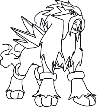 entei line by eizokun on deviantart