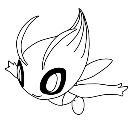 Pin Pokemon Jirachi Colouring Pages