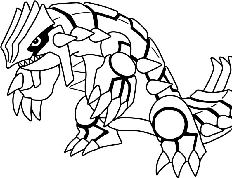 pokemon groudon Colouring Pages (page 2)