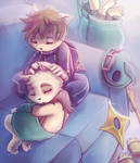 Kennen and Teemo Snuggles