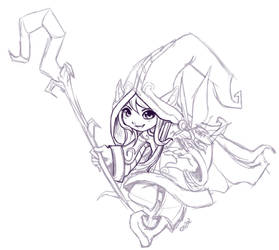 WIP - Lulu the Fae Sorceress by RinTheYordle
