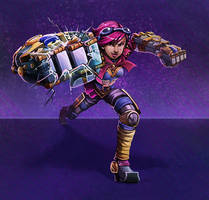 Vi BREAKING YOUR SCREEN by RinTheYordle