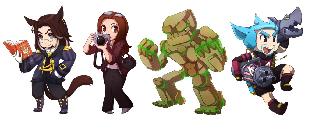 Recent Chibis! by RinTheYordle