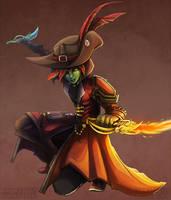 Liatris, Sylvari Thief - Commission by RinTheYordle