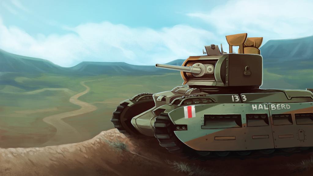 Commission -- Matilda II Tank by RinTheYordle