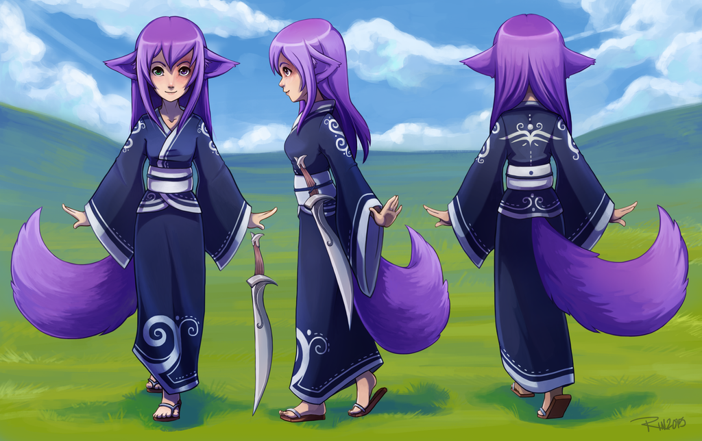 Commission - Wandering Laura - OC Character Sheet by RinTheYordle