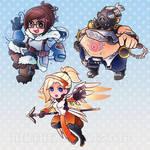 Overwatch Charm Designs - Mercy, Mei, Roadhog