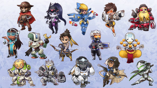 Overwatch Chibis -  Charms