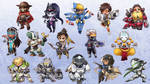 Overwatch Chibis -  Charms by RinTheYordle