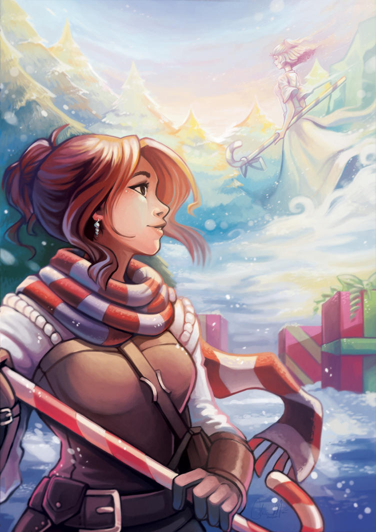Joy and Noel - Wintersday Zine Charity - CHIMES! by RinTheYordle