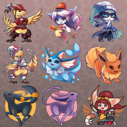 A whole lotta chibis by RinTheYordle