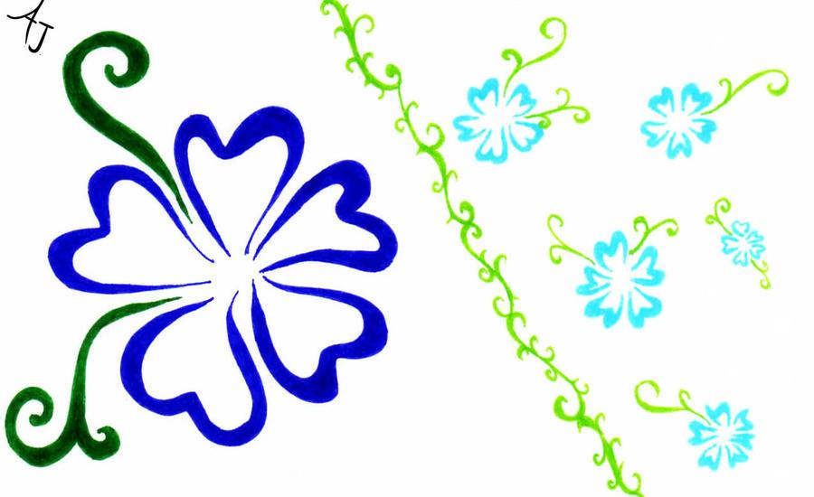 Island Flowers Drawings Flower Drawings Clipart
