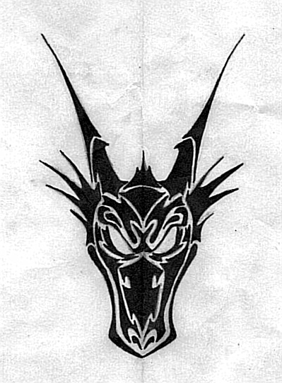 Tribal Dragon Face by butterfly--wings on DeviantArt