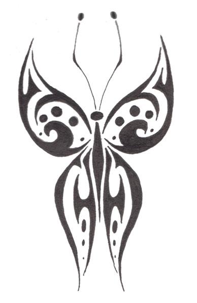 Tribal Butterfly Wallpaper