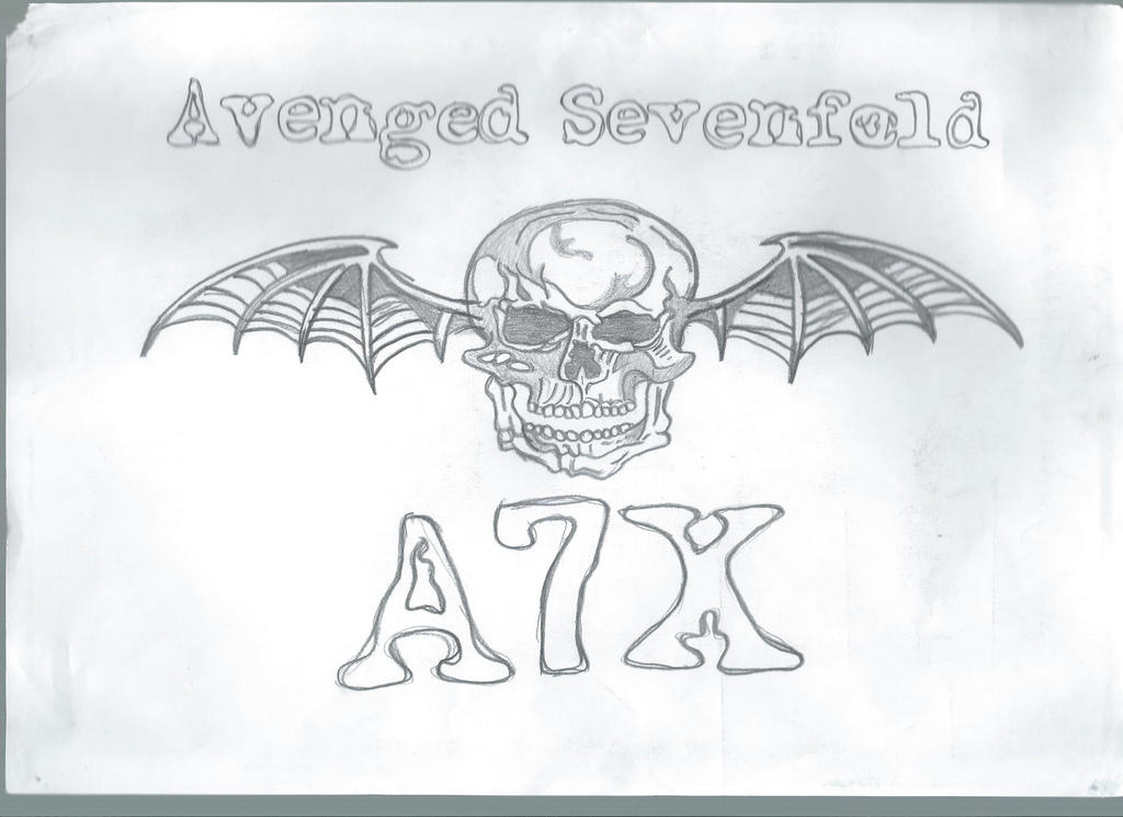 Avenged sevenfold logo deathbat by adz6661
