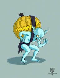 Drawlloween day 11 - Goblin by EdArtGaming